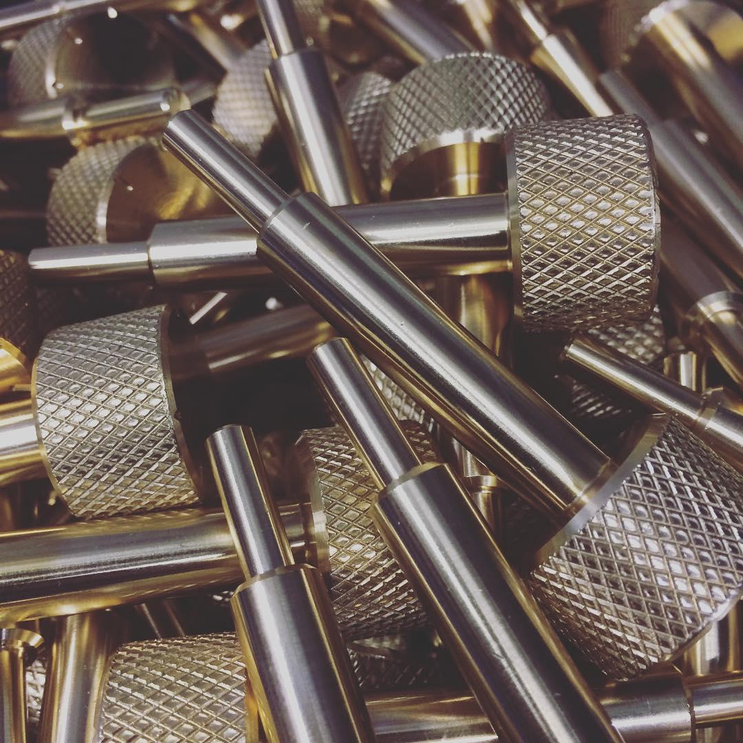 Machined Parts: Brass Adjustment Screw Blanks