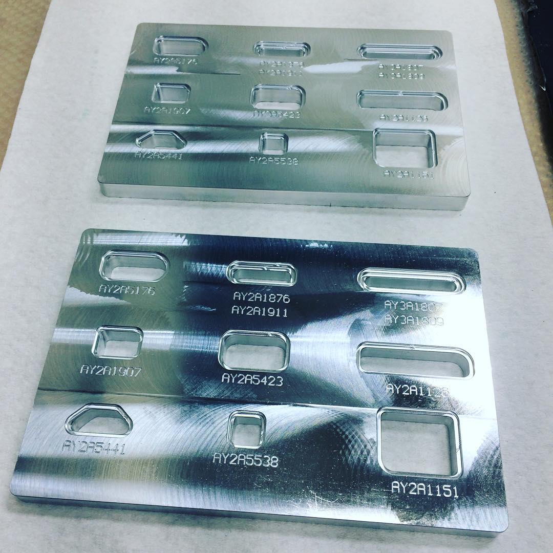 Machined Parts: Inscribed Milled Aluminum